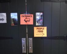 People Food sign at cat show entrance