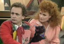7th doctor mel and a lap cat
